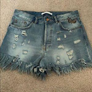 Zara butterfly shorts
